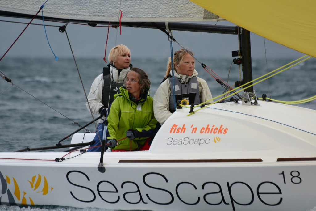"Die deutsche Frauencrew auf ""fish ´n chicks"""